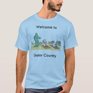 T-shirt Bande dessinée drôle de pays d'alligator