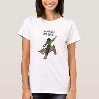 T-shirt Bande dessinée drôle d'humour du travail de rodéo