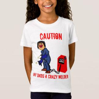 T-Shirt Bande dessinée folle de papa de soudeuse