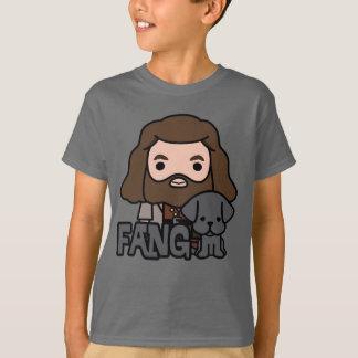 T-shirt Bande dessinée Hagrid et art de caractère de croc