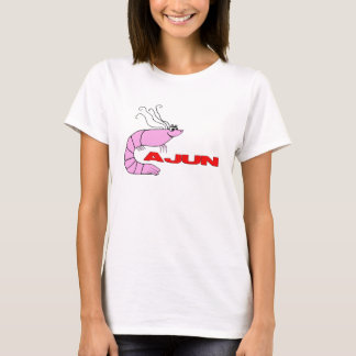 """T-shirt Bande dessinée mignonne """"Cajun """" de crevette"""