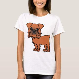 T-shirt Bande dessinée mignonne de griffon de Bruxelles