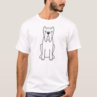 T-shirt Bande dessinée napolitaine de chien de mastiff