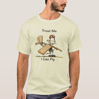 T-shirt Bande dessinée pilote d'aviation d'humour