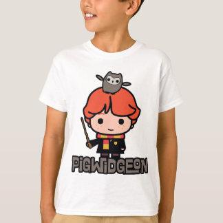 T-shirt Bande dessinée Ron Weasley et Pigwidgeon