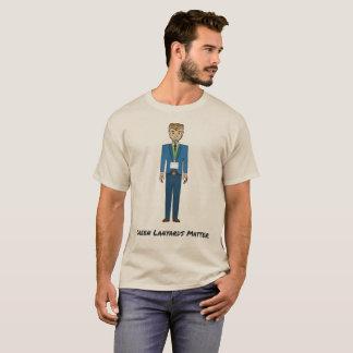 T-shirt Bande dessinée verte de matière de lanières