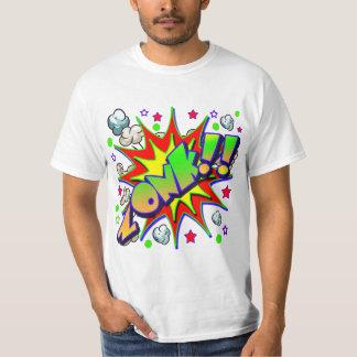 T-shirt Bande dessinée ZONK de vecteur