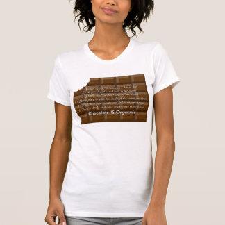 T-shirt Barre adulte de choclate avec le gros morceau