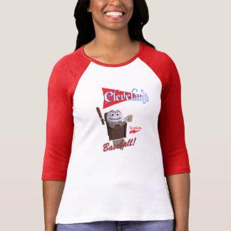"""T-shirt Base-ball de Scolletta """"Cleveland !"""" 3/4 raglan de"""