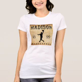 T-shirt Basket-ball 1899 de Madison le Wisconsin