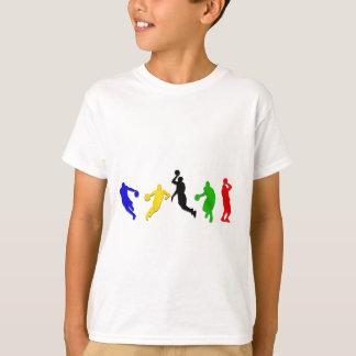T-shirt Basket-ball de cercles   de joueurs de basket