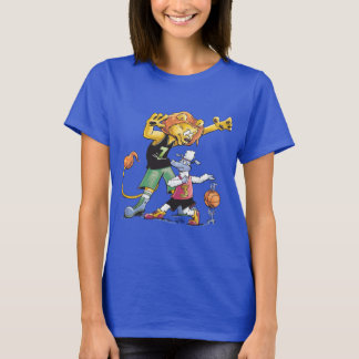 T-shirt Basket-ball de lion et de moutons