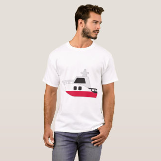 T-shirt Bateau de drapeau de la Pologne