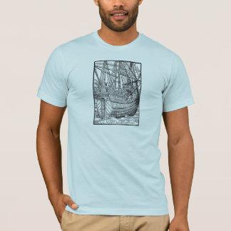 T-shirt Bateau de navigation de galion