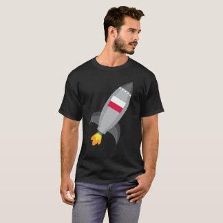T-shirt Bateau de Rocket de drapeau de la Pologne