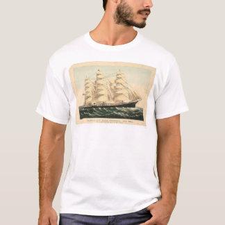 """T-shirt Bateau de tondeuse """"trois frères"""" (0406A)"""