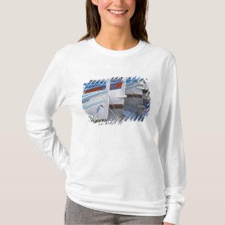 T-shirt Bateaux de pêche typiques de Provencal peints dans