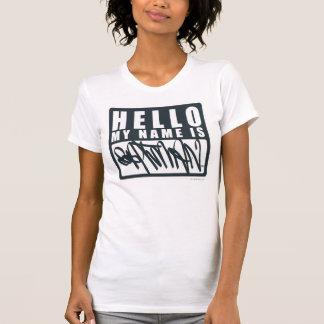 T-shirt Batman | bonjour mon nom est logo de Batman