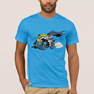 T-shirt Batman et Robin dans Batcycle
