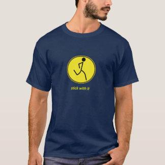 T-shirt Bâton avec lui : coureur (jaune)