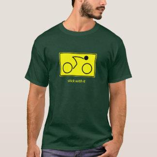 T-shirt Bâton avec lui : cycliste (jaune)