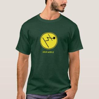 T-shirt bâton avec lui : skieur (jaune)