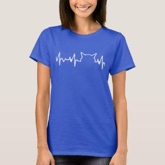 T-shirt Battement de coeur de chat