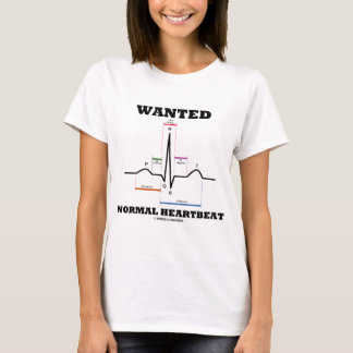 T-shirt Battement de coeur normal voulu