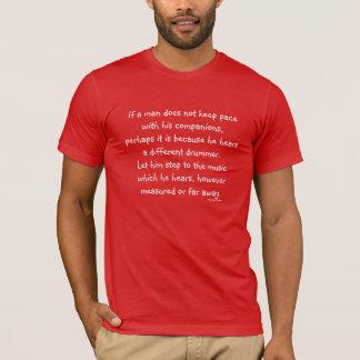 T-shirt batteur différent de thoreau