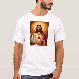 T-shirt Beau coeur sacré religieux d'image de Jésus