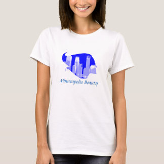 T-shirt Beauté de Minneapolis dans bleu et blanc