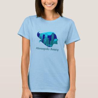 T-shirt Beauté de Minneapolis dans le bleu