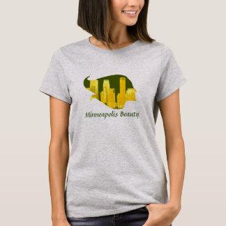 T-shirt Beauté de Minneapolis dans vert, jaune, et