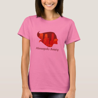 T-shirt Beauté de Minneapolis en rouge et orange