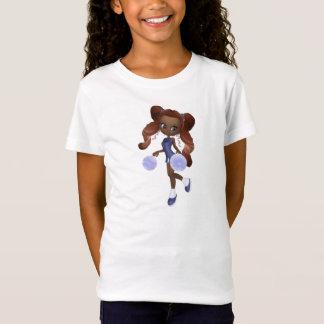 T-Shirt Bébé de pom-pom girl d'Afro-américain - poupée