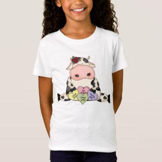 T-Shirt Bébé des filles de Valentine de vache à amusement