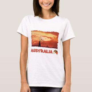 T-shirt Bébé orange australien de dames de coucher du