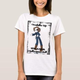 T-shirt Bébé-pièce en t de poupée de Halloween