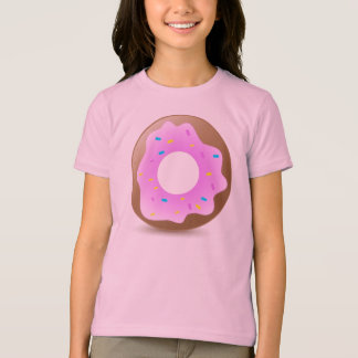 T-shirt Beignet rose simple