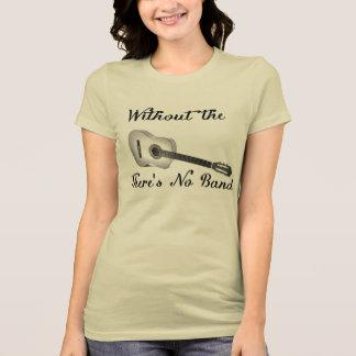 T-shirt Bella des femmes de guitare acoustique+Favori Jers