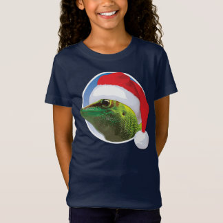 T-Shirt Bella des filles de Gecko de Noël+T-shirt du