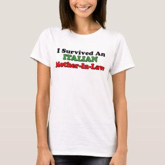 T-shirt Belle-mère italienne survécue