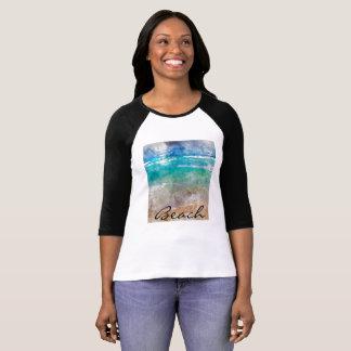 T-shirt Belle plage de Cancun - aquarelle de Digitals