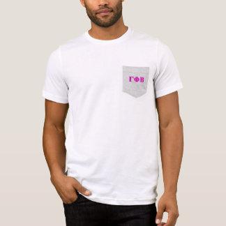 T-shirt Bêtas lettres roses lumineuses de phi gamma