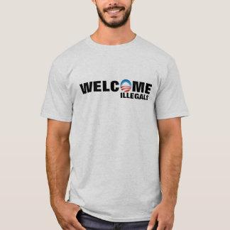 T-shirt bienvenu d'Anti-Obama d'Illegals
