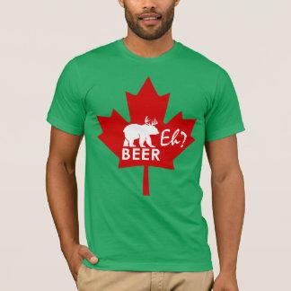 T-shirt Bière de feuille d'érable de jour du Canada hein ?