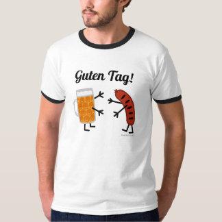 T-shirt Bière et bratwurst - étiquette de Guten ! - Fin