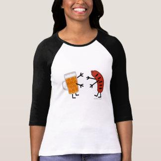 T-shirt Bière et bratwurst - nourriture amicale drôle