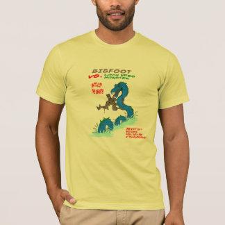 T-shirt Bigfoot CONTRE le monstre de Loch Ness