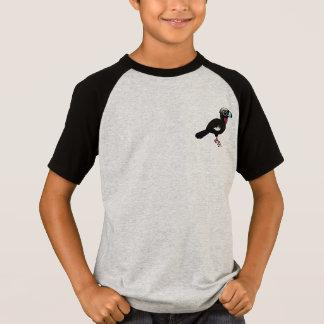 T-shirt Birdorable Noir-a affronté Guan sifflant